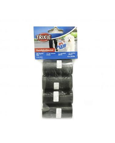 Trixie rotoli di sacchetti igienici per Cani, Misura M, 4x20 pezzi
