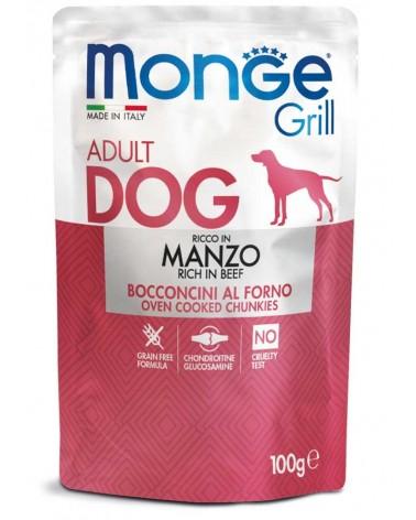 Monge Grill Adult Bocconcini di Manzo al forno 100 Gr
