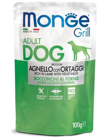 Monge Grill Adult Bocconcini di Agnello con ortaggi al forno 100 Gr