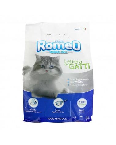 Romeo Mineral Ball lettiera igienica in bentonite profumo neutro 6 Litri