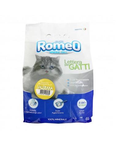 Romeo Mineral Ball lettiera igienica in bentonite profumo valeriana 6 Litri
