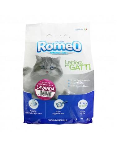 Romeo Mineral Ball lettiera igienica in bentonite profumo lavanda 6 Litri