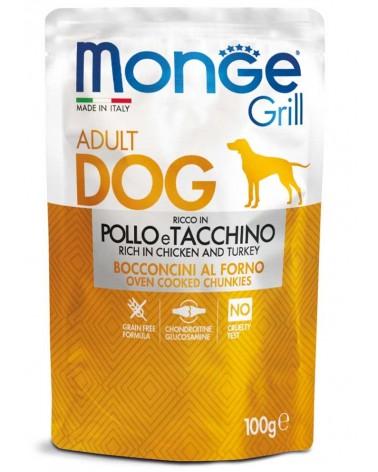 Monge Grill Adult Cane Bocconcini di Pollo e Tacchino al forno 100 Gr