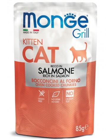 Monge Grill Kitten Gatto Bocconcini di Salmone al forno 85 Gr