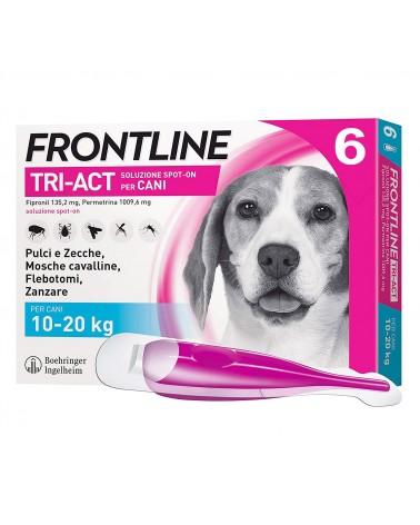 Frontline Tri-Act Cani soluzione Spot-ON 6 pipette 10-20 Kg