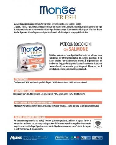 Monge Fresh Paté e Bocconcini di Salmone 100 Gr