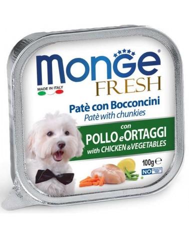 Monge Fresh Paté e Bocconcini di Pollo e Ortaggi 100 Gr