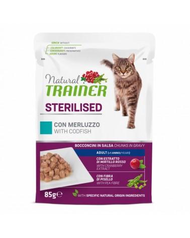 Natural Trainer Adult Sterilised Gatti con Merluzzo 85 Gr