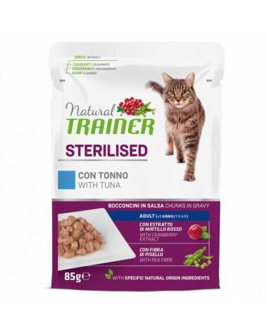 Natural Trainer Adult Sterilised Gatti con Tonno 85 Gr