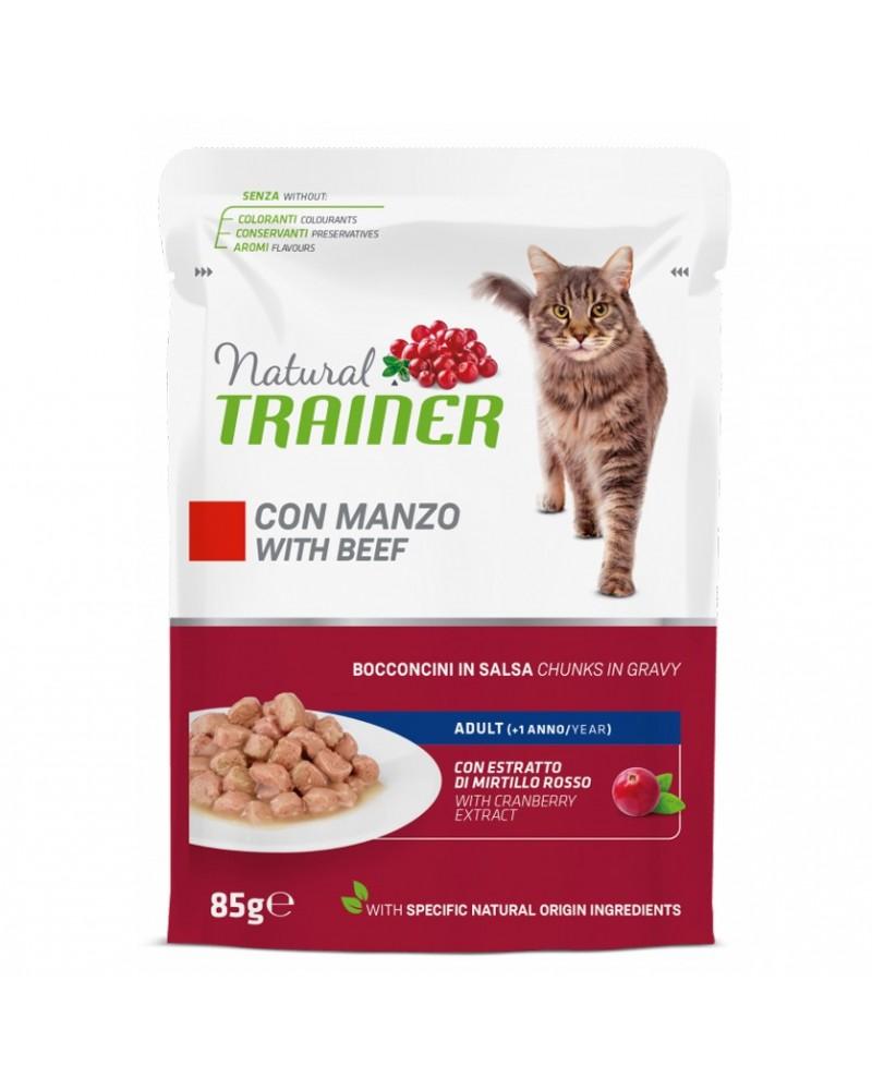 Natural Trainer Adult Gatti con Manzo 85 Gr