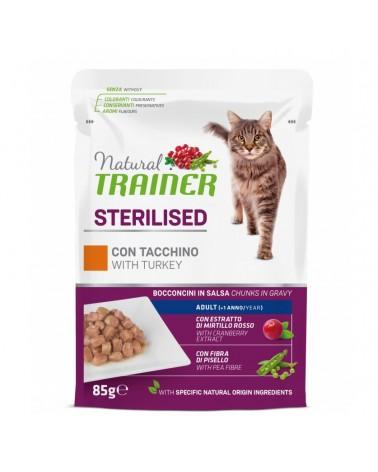 Natural Trainer Adult Sterilised Gatti con Tacchino 85 Gr