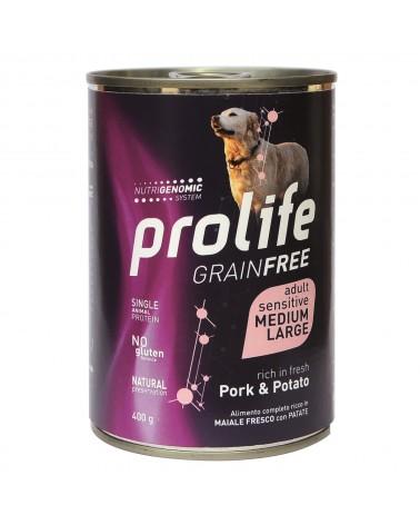 Prolife Cani Grain Free Adult Sensitive Umido con Maiale e Patate 400 Gr