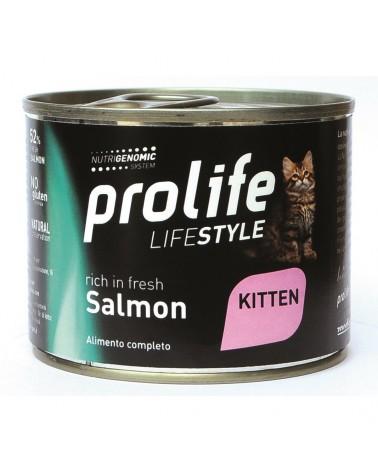 Prolife Gatti Lifestyle Kitten Umido con Salmone 200 Gr