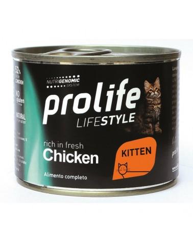 Prolife Gatti Lifestyle Kitten Umido con Pollo 200 Gr