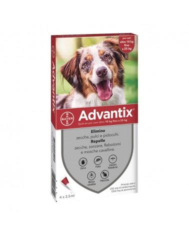 Advantix Cani soluzione Spot-ON 1 pipetta 10-25 Kg