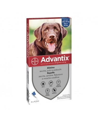 Advantix Cani soluzione Spot-ON 4 pipette 25-40 Kg
