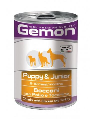 Gemon Cane Puppy & Junior umido con Pollo e Tacchino 415 Gr