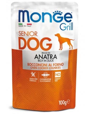 Monge Grill Senior Cane Bocconcini di Anatra al forno 100 Gr